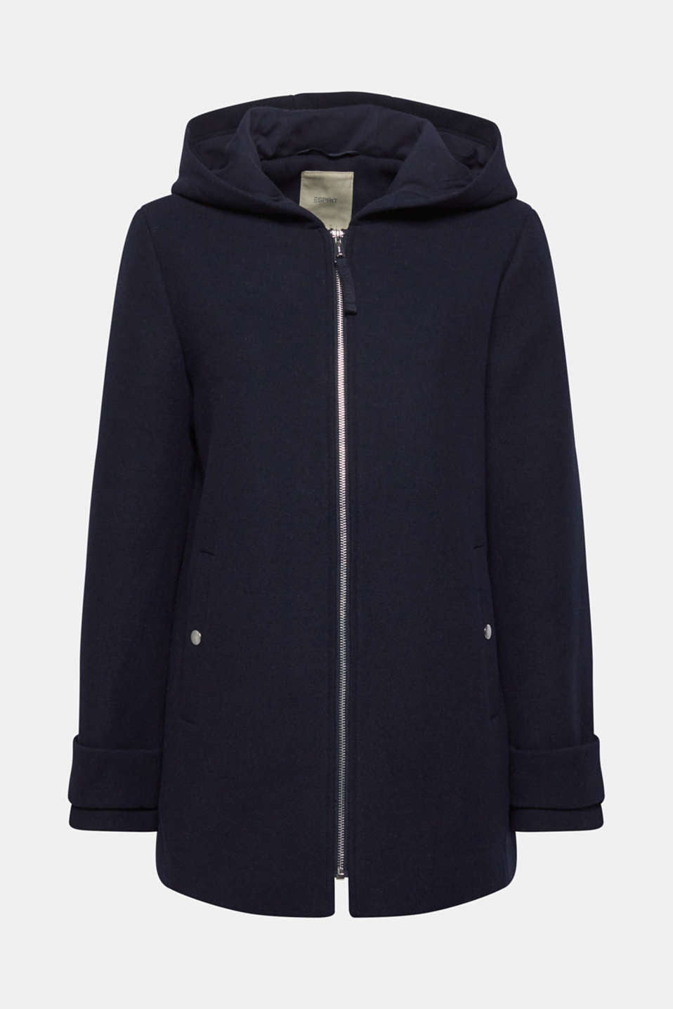 Wool blend: padded zip-up jacket, NAVY, detail image number 6