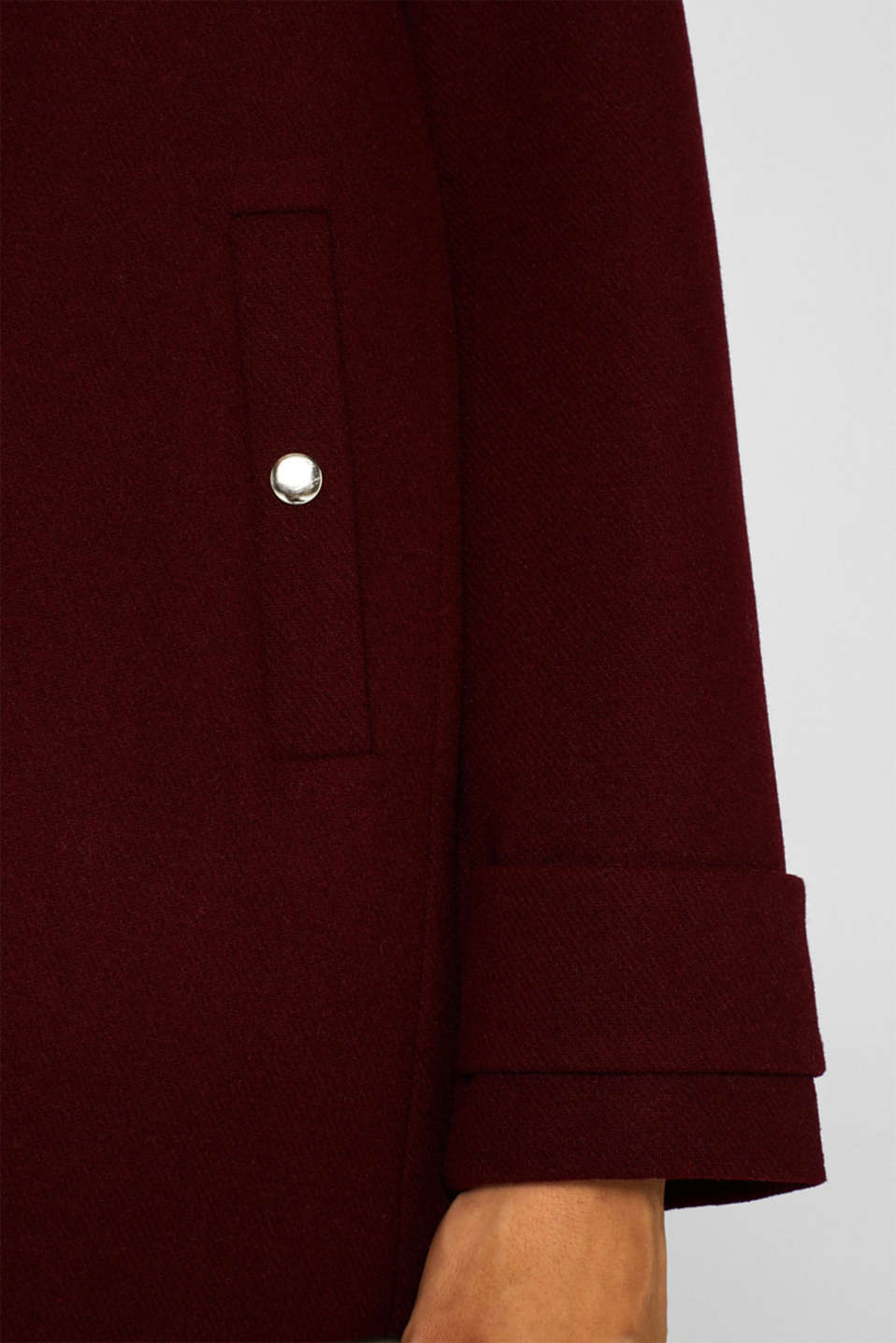 Jackets outdoor woven, BORDEAUX RED, detail image number 2
