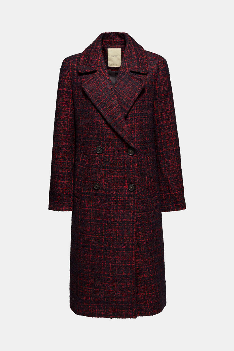 Coats woven, DARK RED, detail image number 7