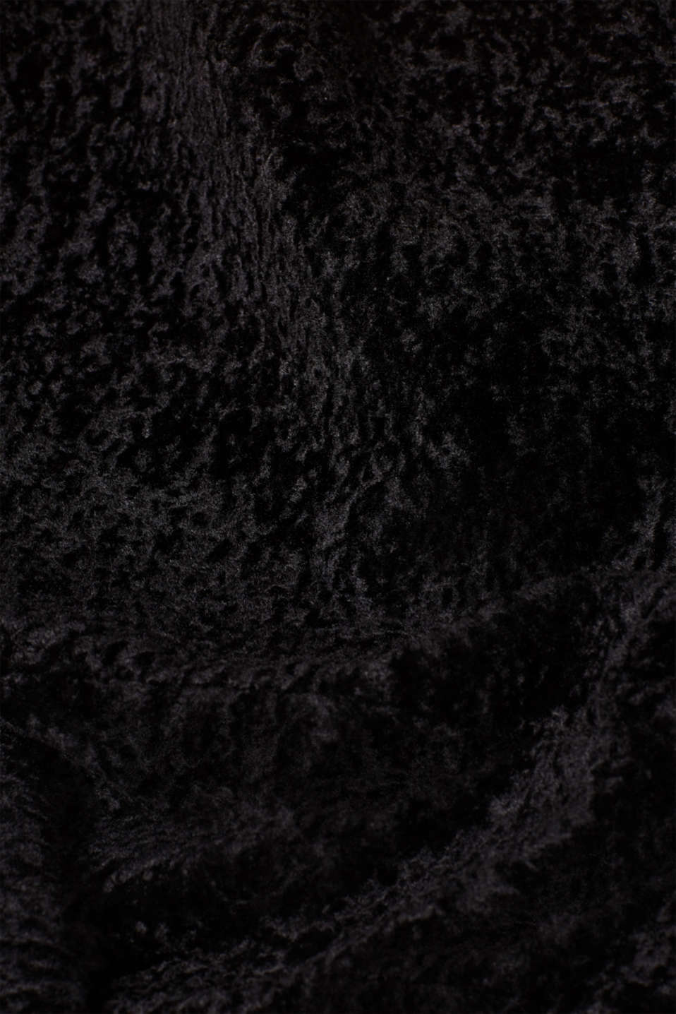 Faux fur jacket in a teddy look, BLACK, detail image number 2