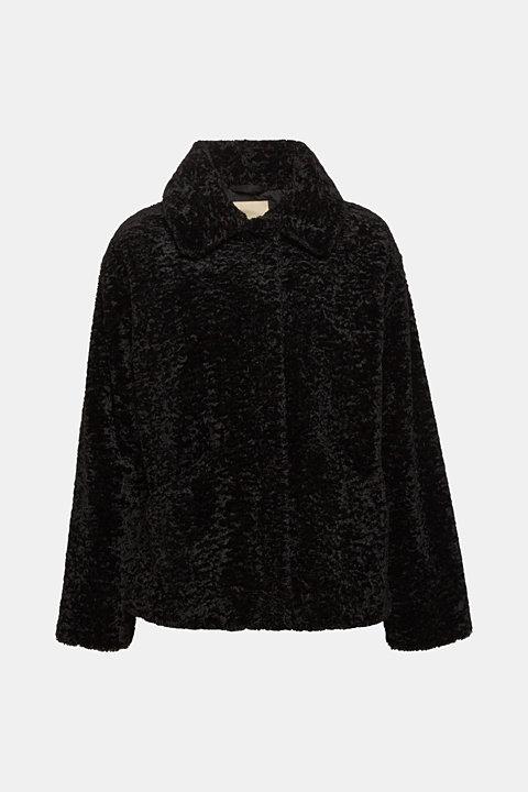 Faux fur jacket in a teddy look