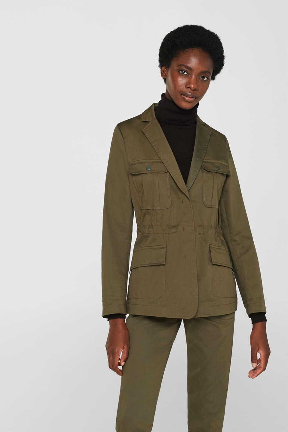 Blazers woven, KHAKI GREEN, detail image number 0
