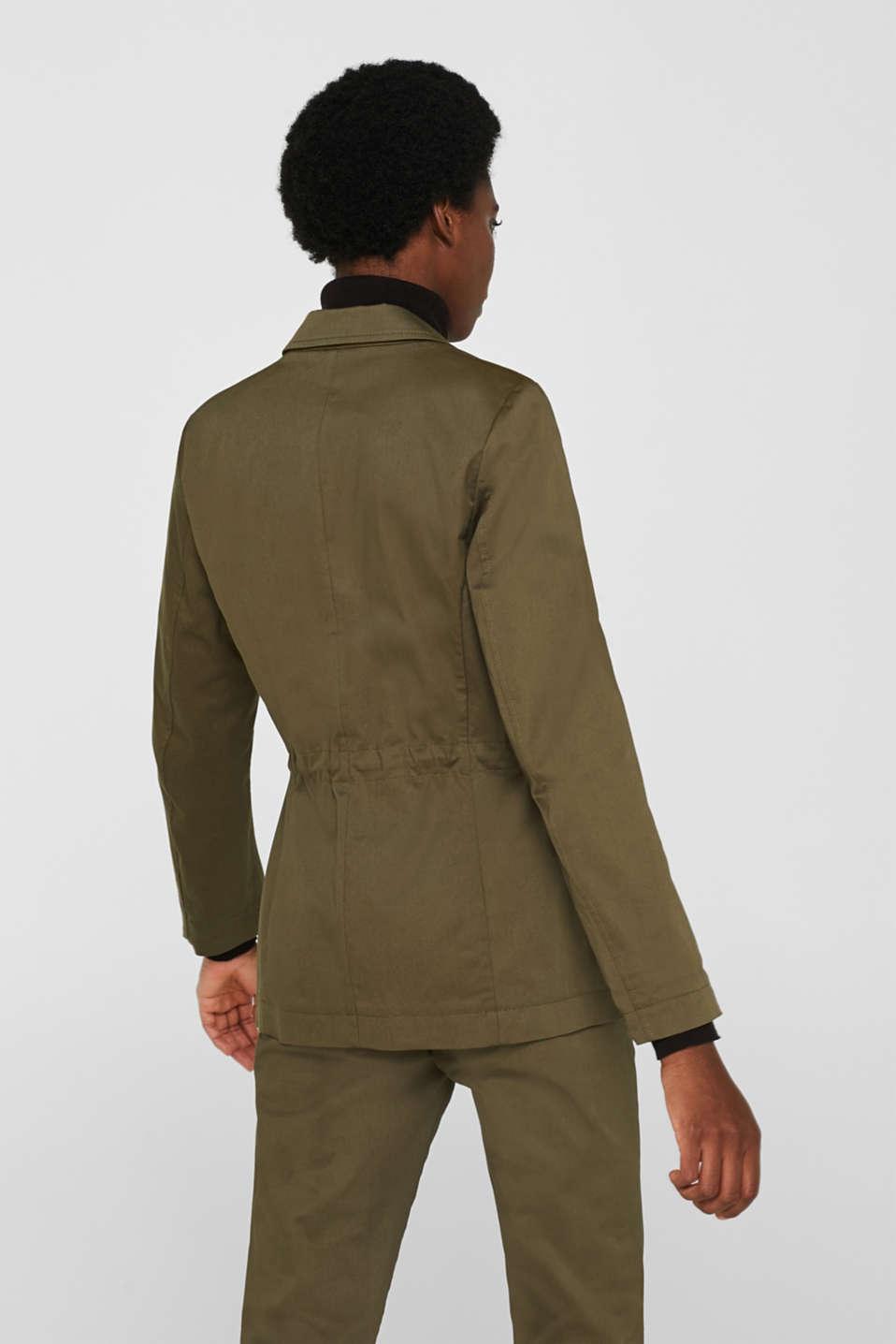 Blazers woven, KHAKI GREEN, detail image number 3