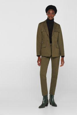 Utility style stretch blazer, KHAKI GREEN, detail