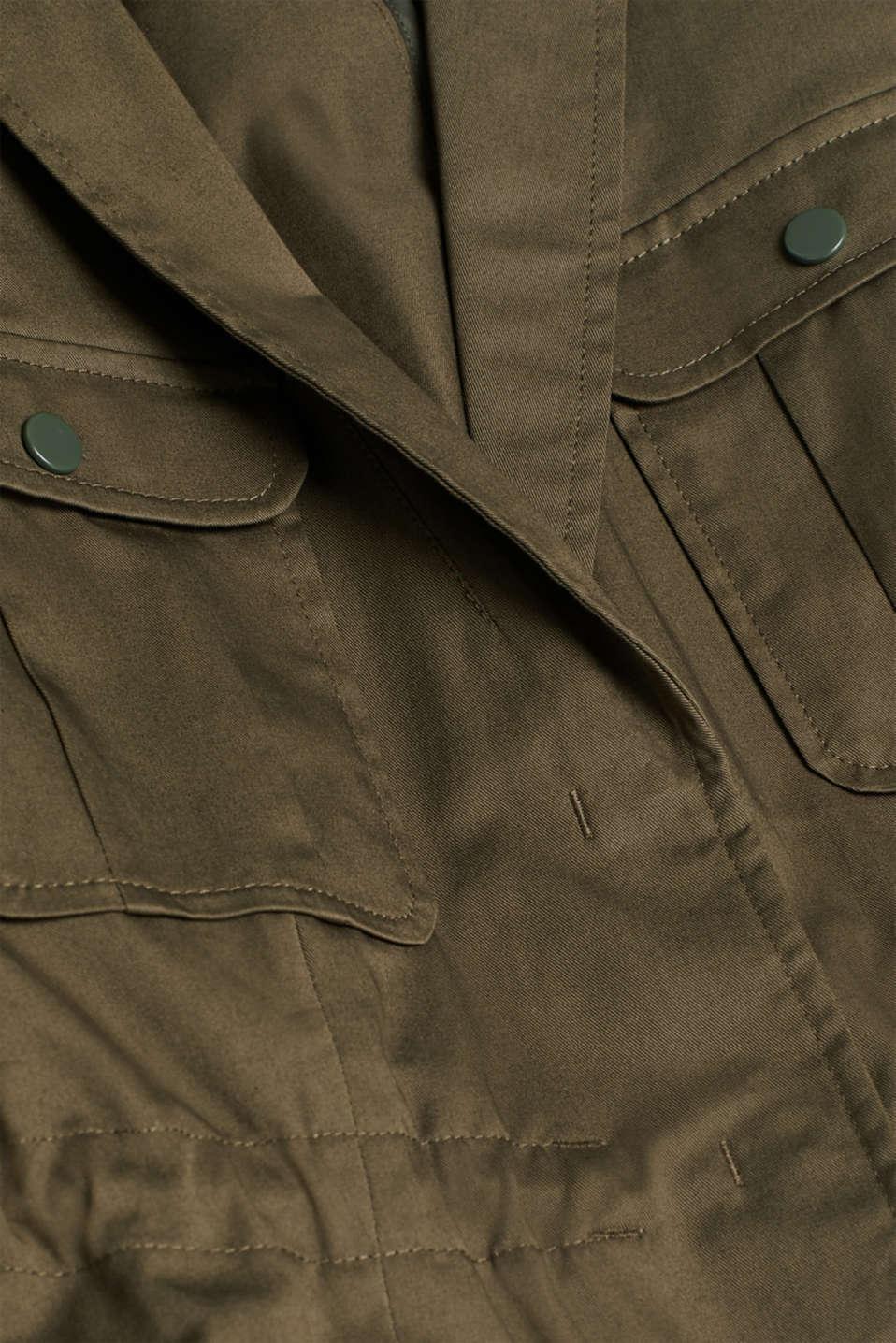 Blazers woven, KHAKI GREEN, detail image number 4