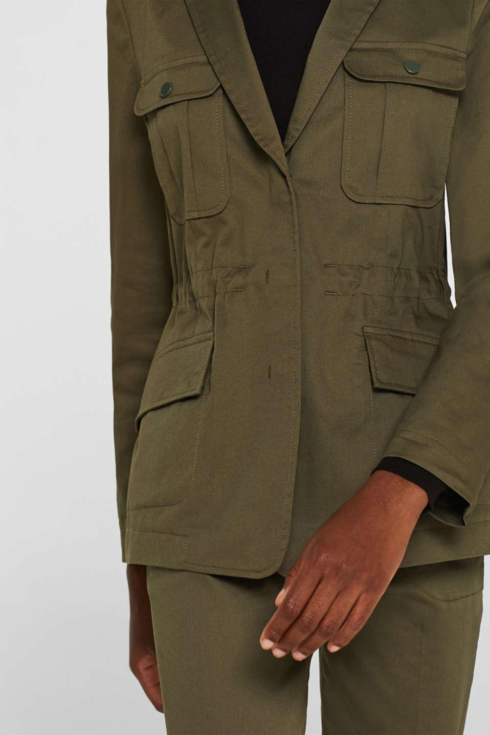 Blazers woven, KHAKI GREEN, detail image number 5