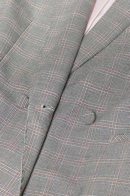 Stretch blazer with trendy checks