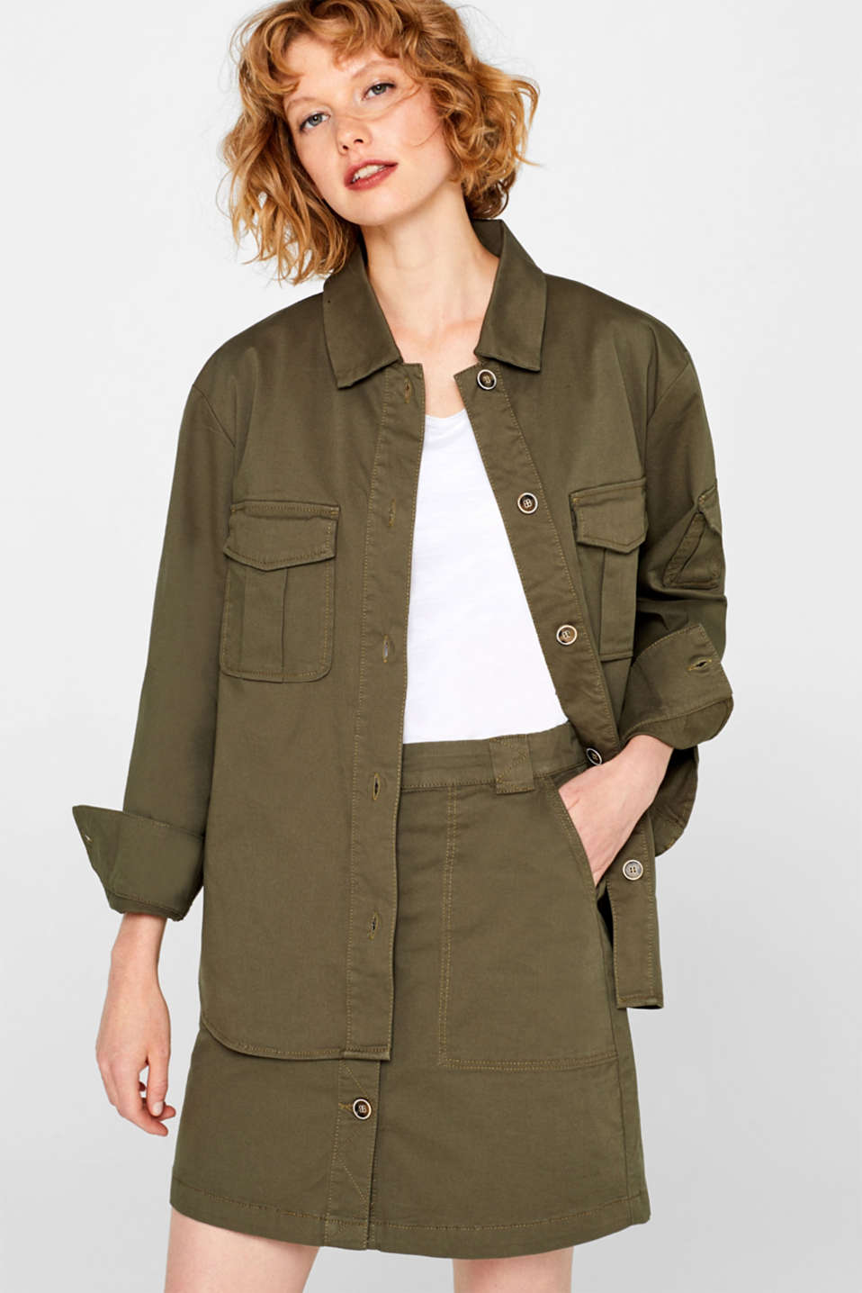 Esprit - Field jacket made of cotton