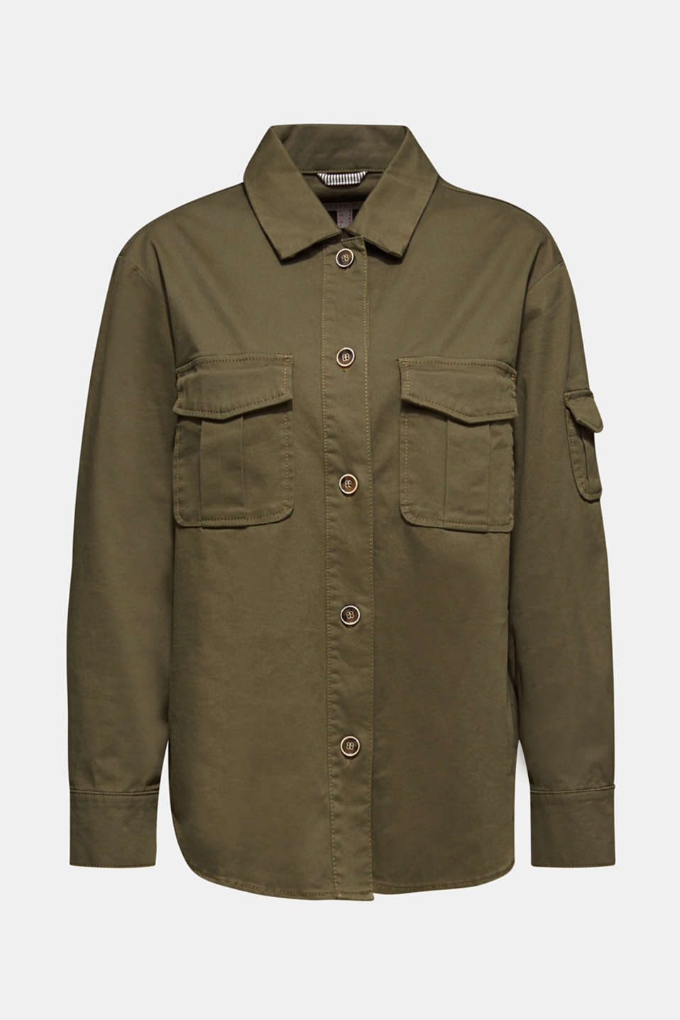 Jackets indoor woven, KHAKI GREEN, detail image number 5