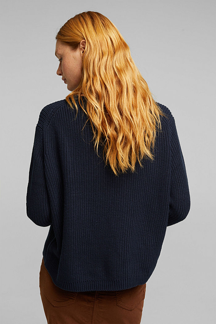 Oversized jumper made of blended wool, NAVY, detail image number 3