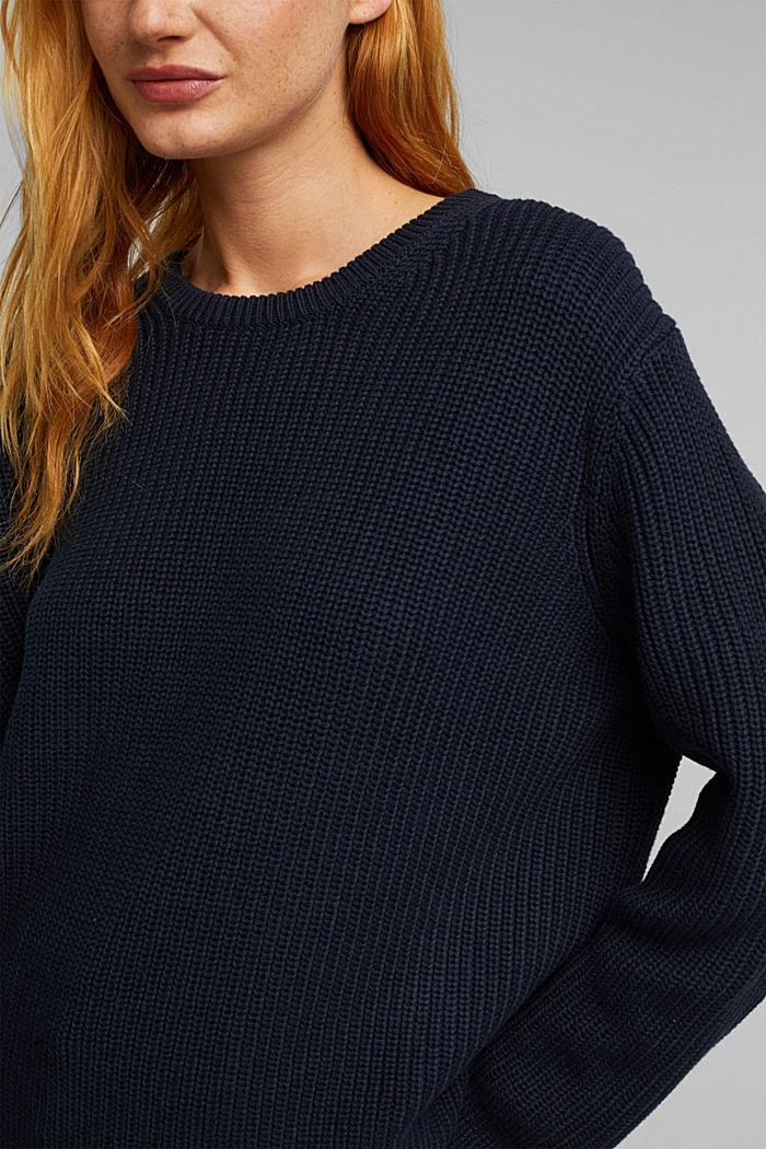 Oversized jumper made of blended wool, NAVY, detail image number 2