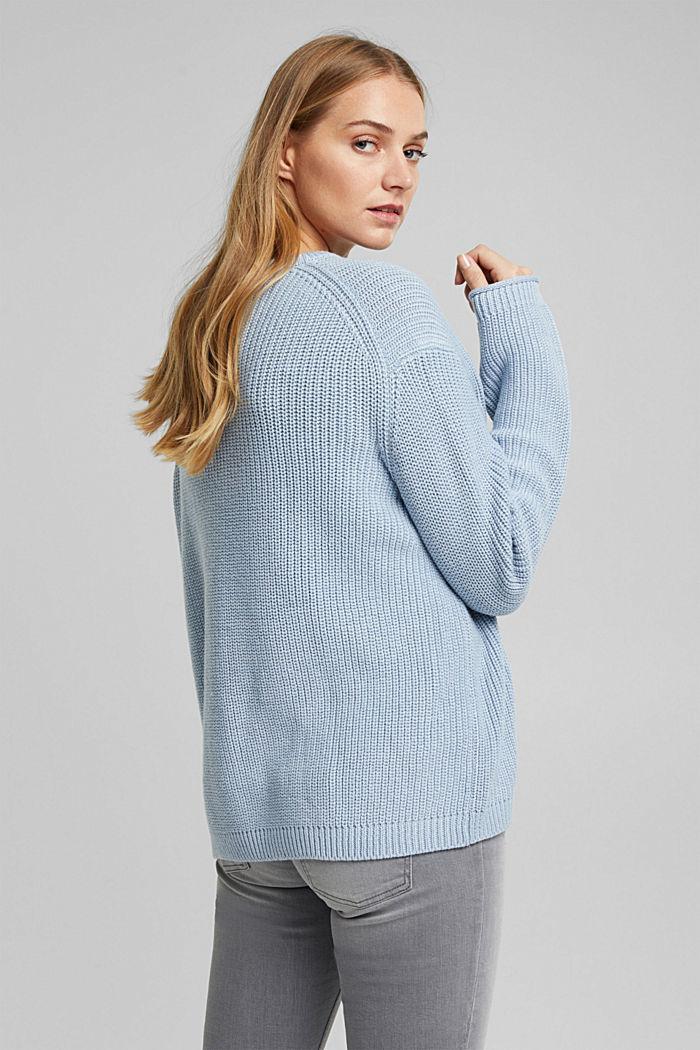 Oversized trui van een wolmix, LIGHT BLUE, detail image number 3