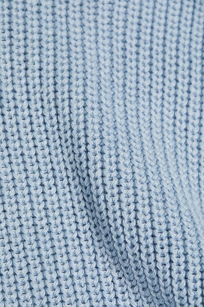 Oversized trui van een wolmix, LIGHT BLUE, detail image number 4