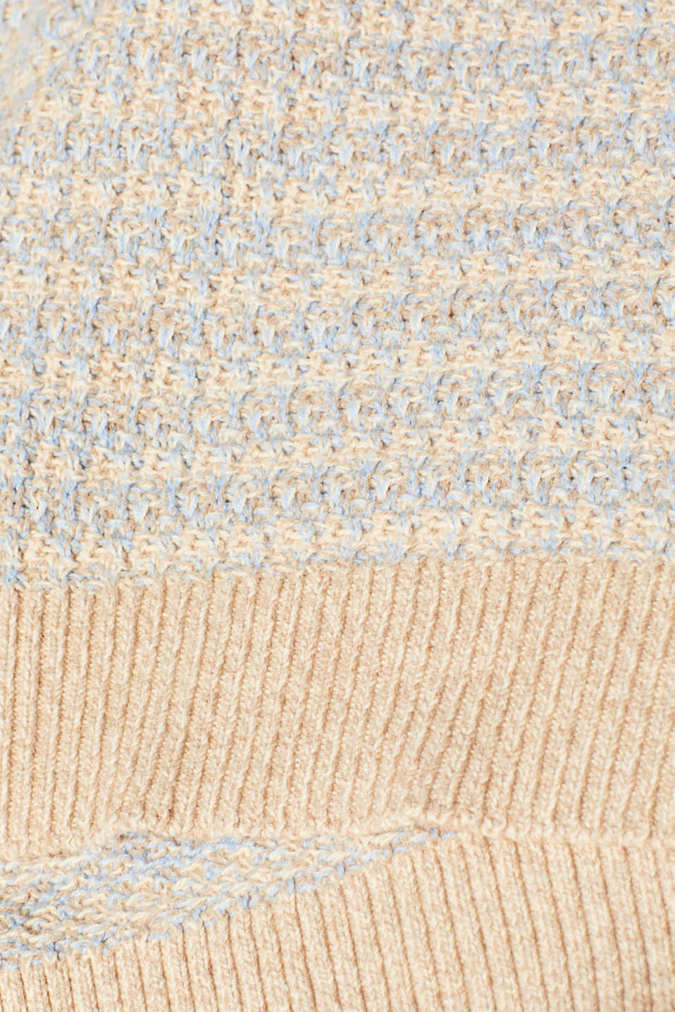 Short-sleeved jumper with a two-tone texture, CREAM BEIGE 2, detail image number 4