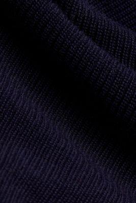 Rib knit jumper with organic cotton, NAVY, detail
