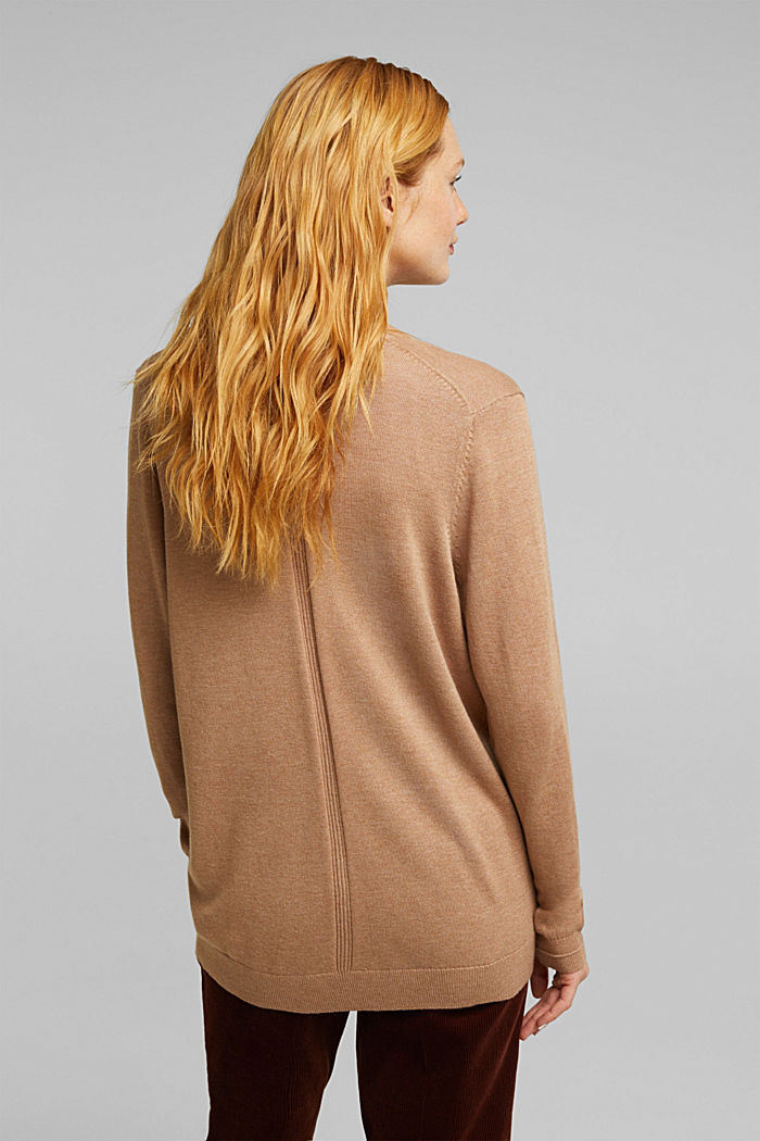 Cardigan with front pockets, CAMEL, detail image number 3
