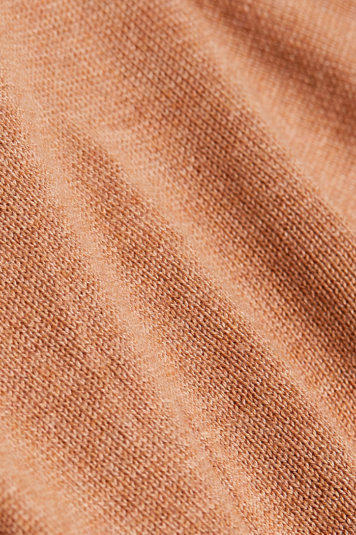 Cardigan with front pockets, CAMEL, detail image number 4