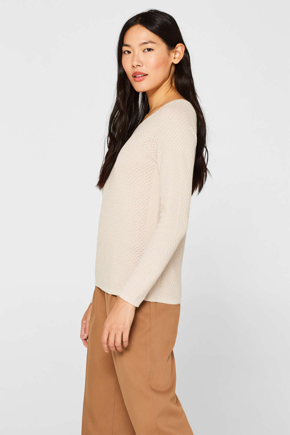 Sweaters, BEIGE 5, detail image number 5