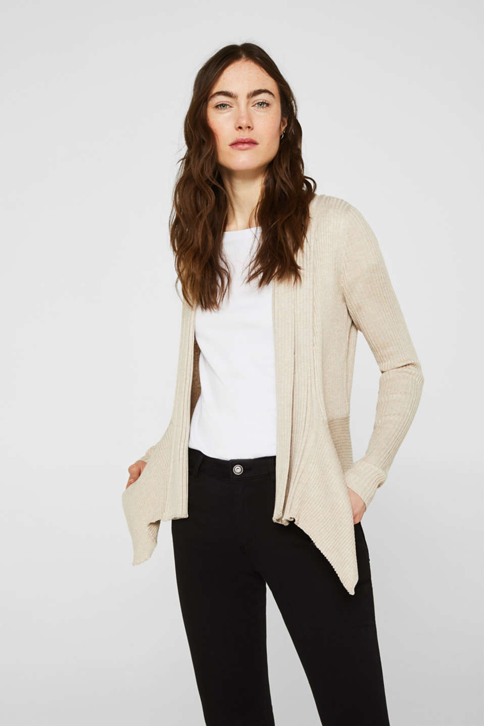 Basic cardigan with a ribbed texture