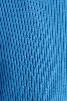Basic cardigan with a ribbed texture, BRIGHT BLUE, detail
