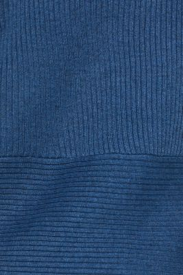 Basic cardigan with a ribbed texture, GREY BLUE 5, detail