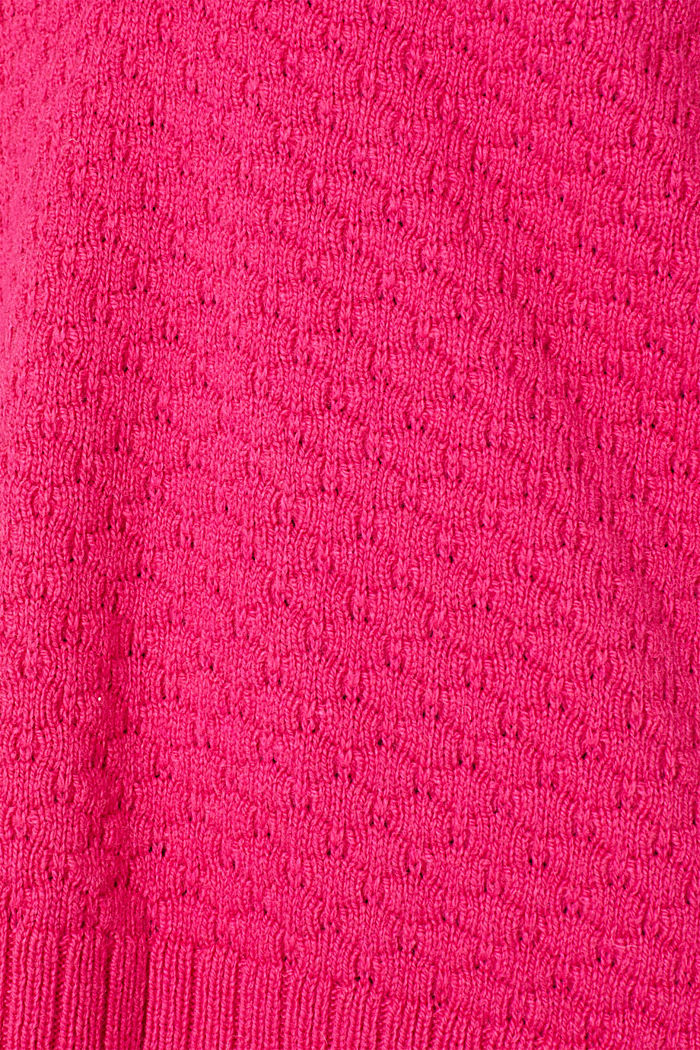 With wool: Jumper with a textured pattern, PINK FUCHSIA, detail image number 4