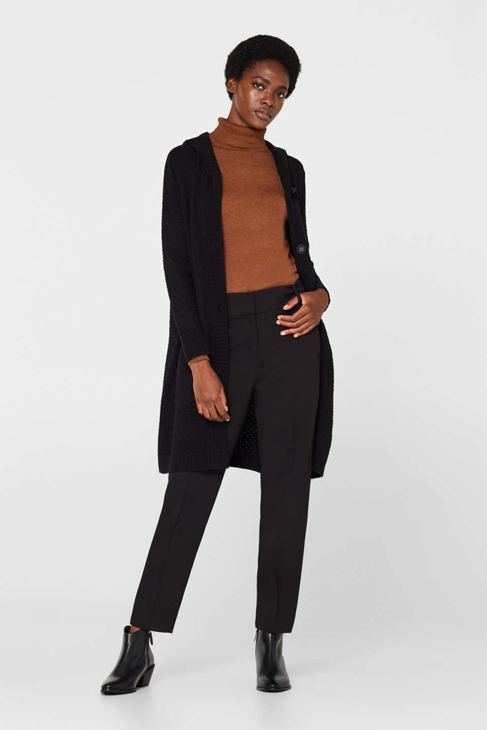Sweaters cardigan, BLACK, detail image number 1