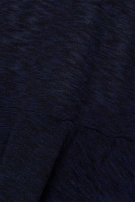 Open cardigan with a melange texture, NAVY, detail