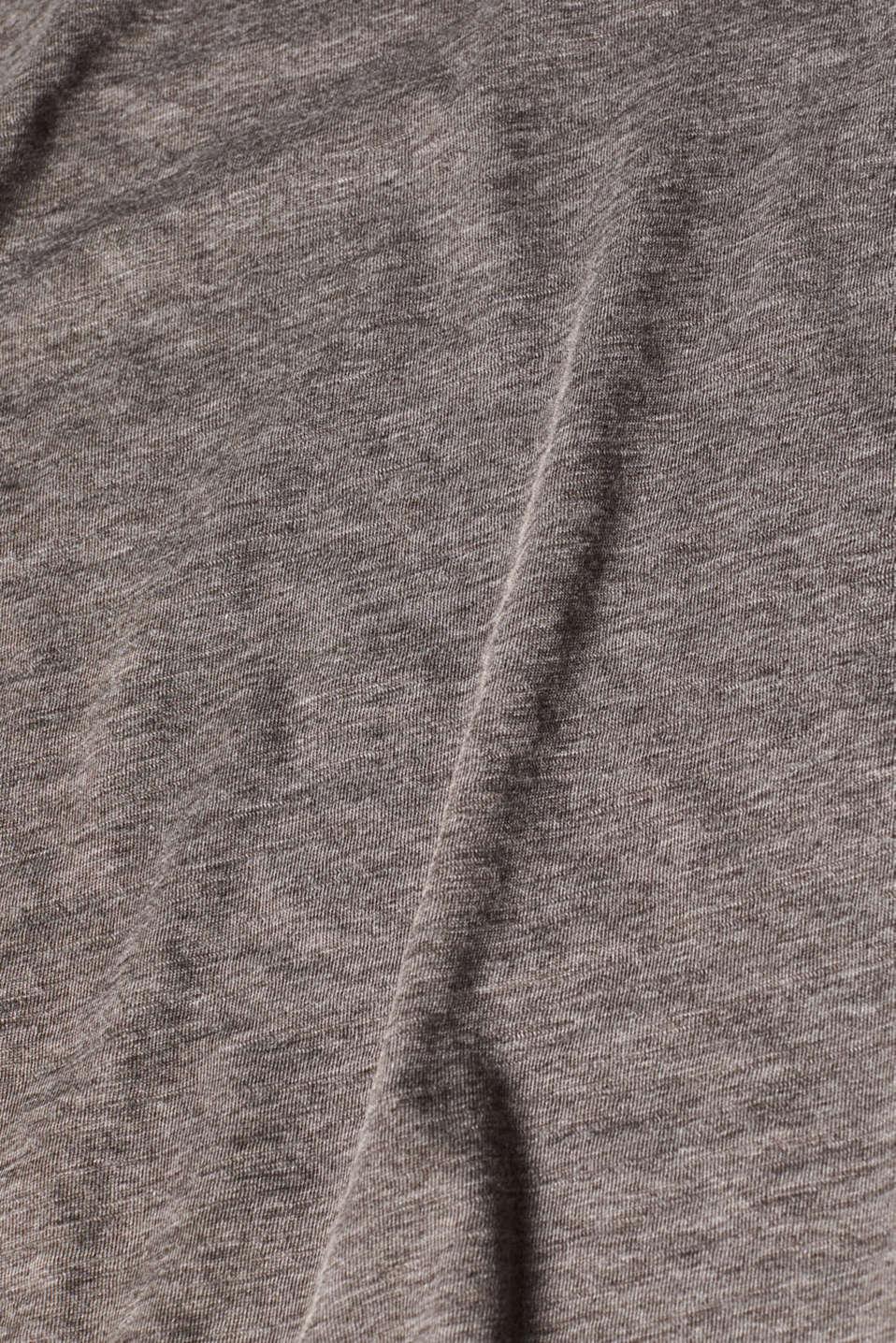 Long sleeve slub top with organic cotton, DARK GREY 4, detail image number 4