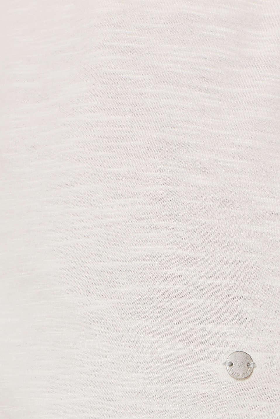 Long sleeve slub top with organic cotton, LIGHT BEIGE 5, detail image number 4