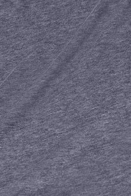 Long sleeve slub top with organic cotton, NAVY, detail
