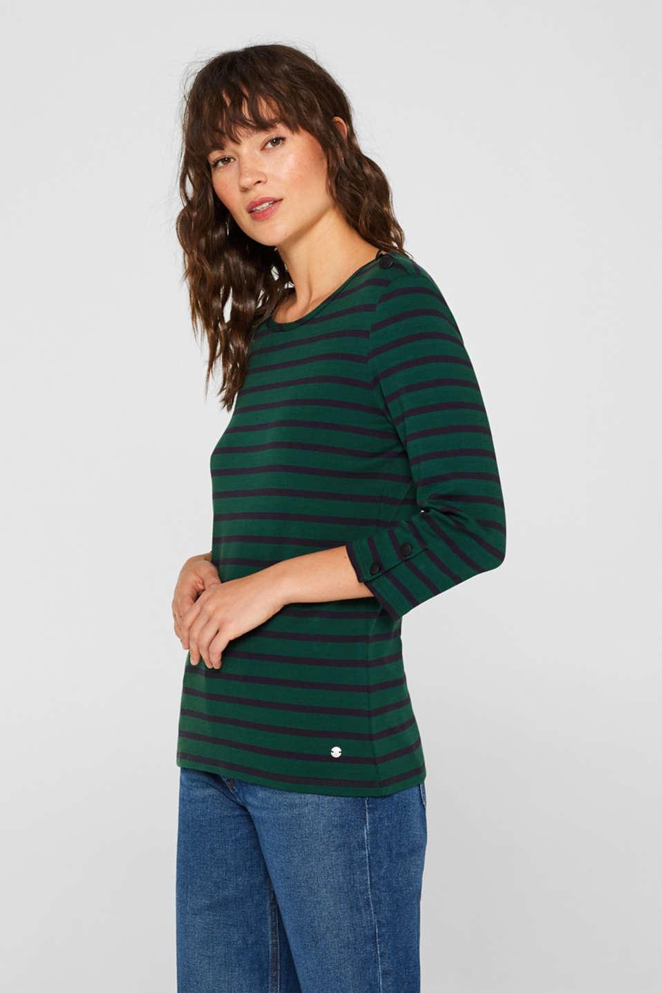 T-Shirts, BOTTLE GREEN 4, detail image number 5