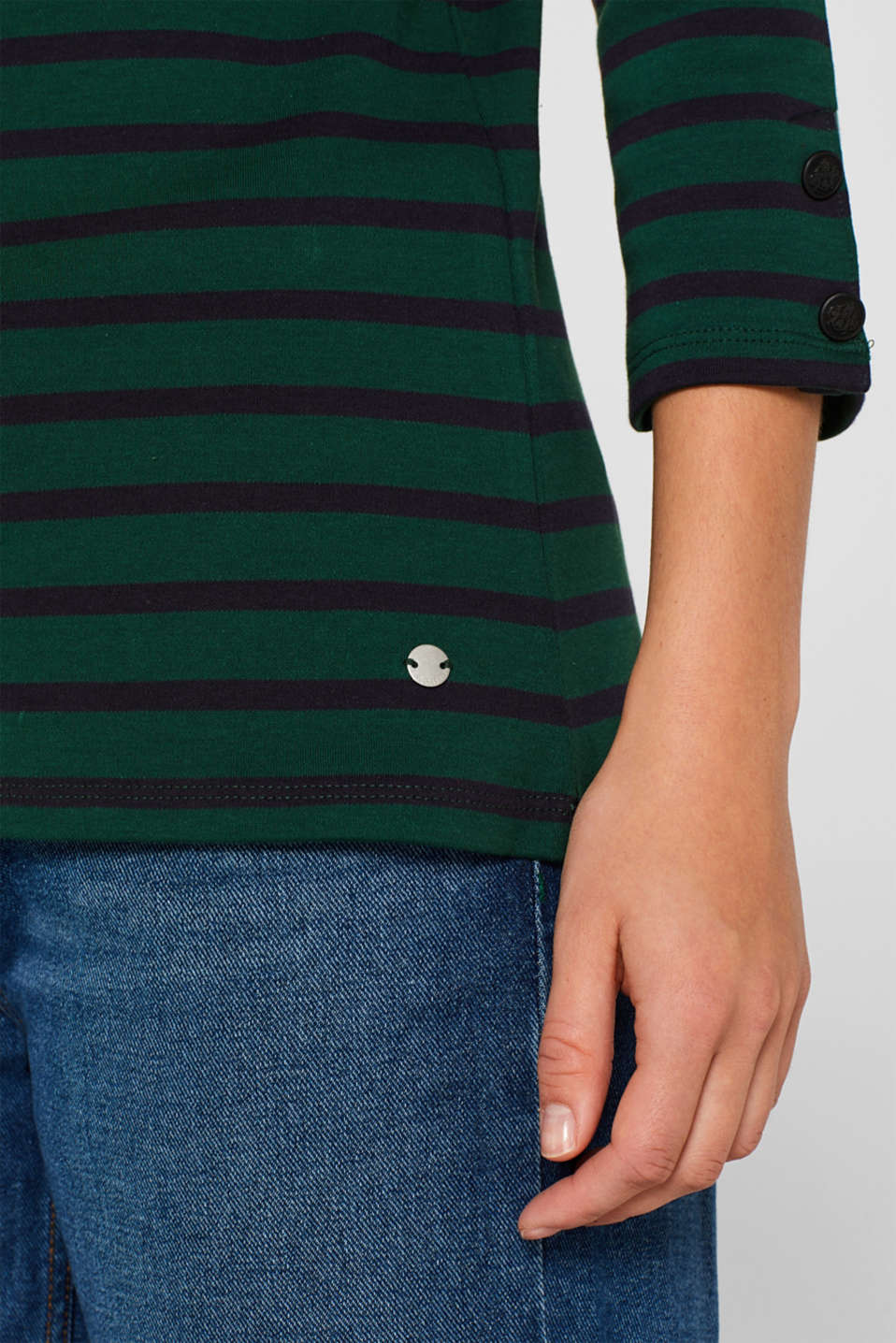 T-Shirts, BOTTLE GREEN 4, detail image number 2