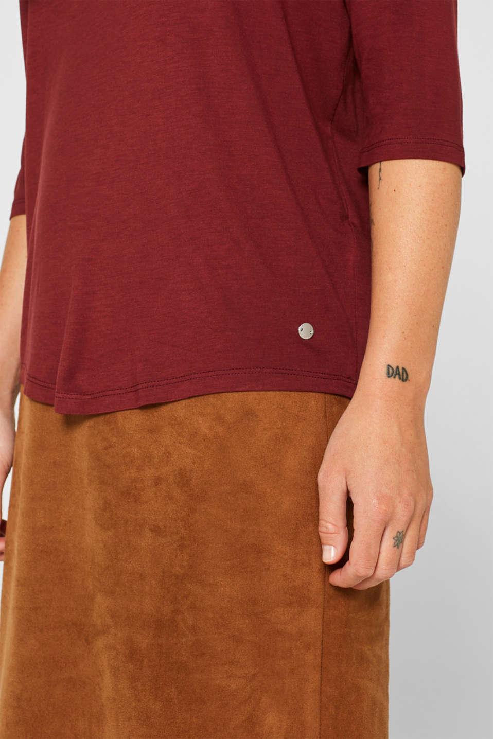 T-Shirts, GARNET RED 4, detail image number 2