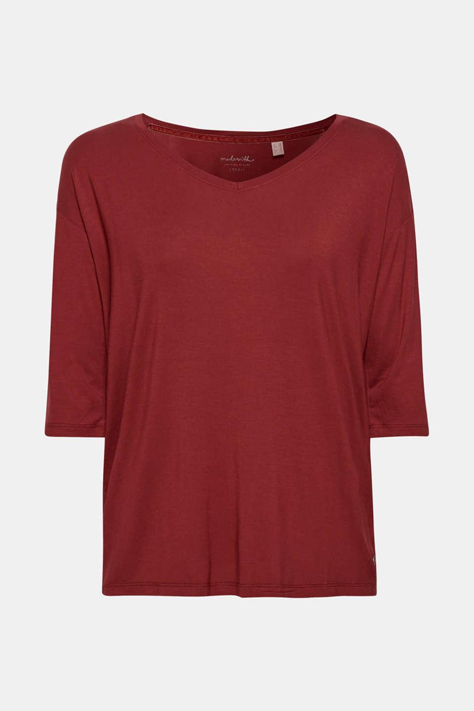T-Shirts, GARNET RED 4, detail image number 7