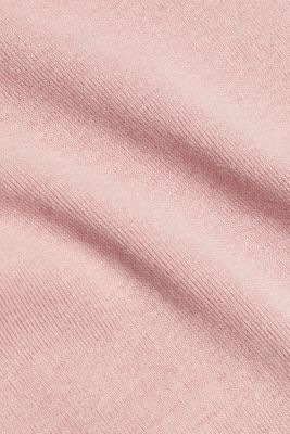 Stretch, full needle ribbed top, OLD PINK 3, detail