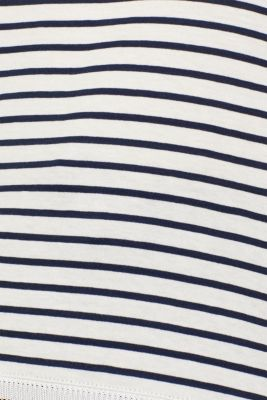 Striped top with embroidery, 100% cotton, OFF WHITE, detail