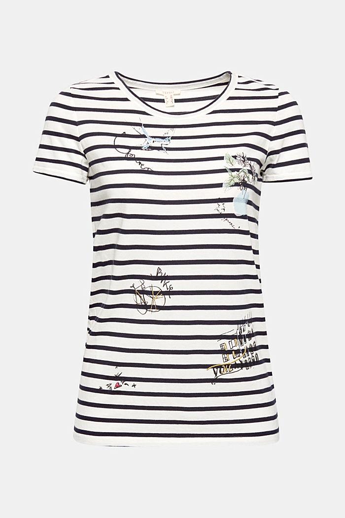 Print-Shirt aus 100% Baumwolle, NAVY, detail image number 0