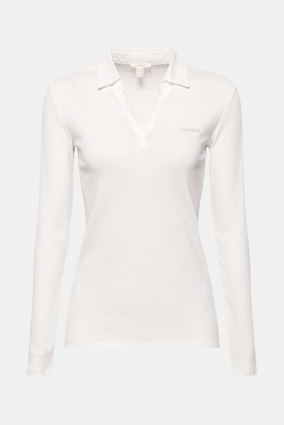 Long sleeve top with a fabric collar, OFF WHITE, detail image number 7