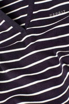Long sleeve polo shirt with a fabric collar, 100% cotton
