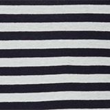 Striped top with organic cotton, 100% cotton, NAVY, swatch