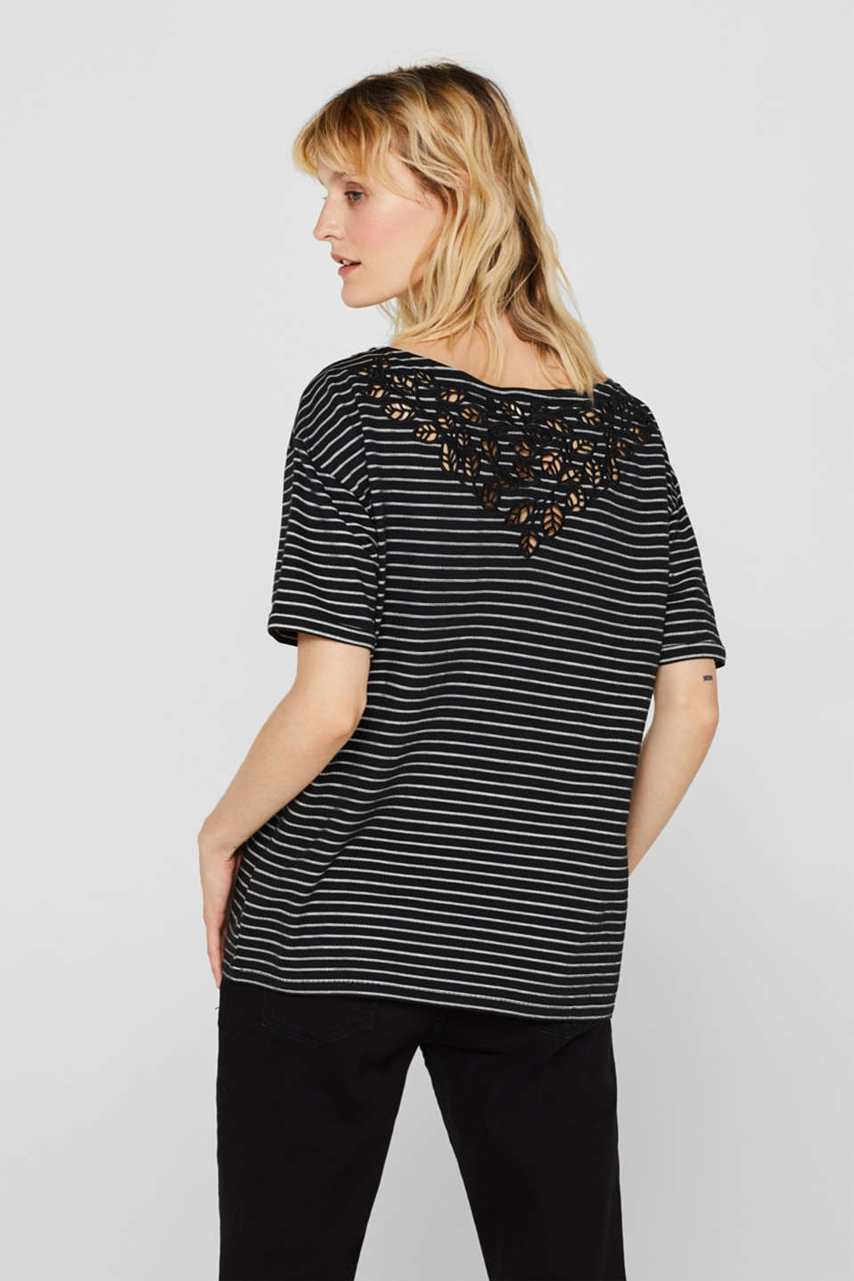 Top with lace details, BLACK, detail image number 3