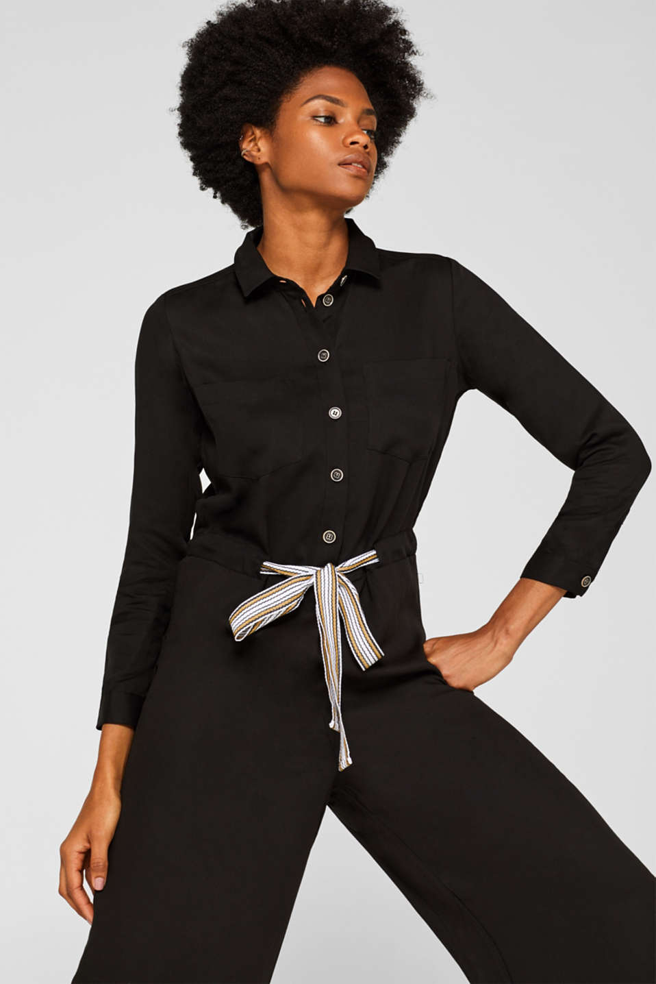 Esprit - Made of TENCEL™: Jumpsuit with a belt
