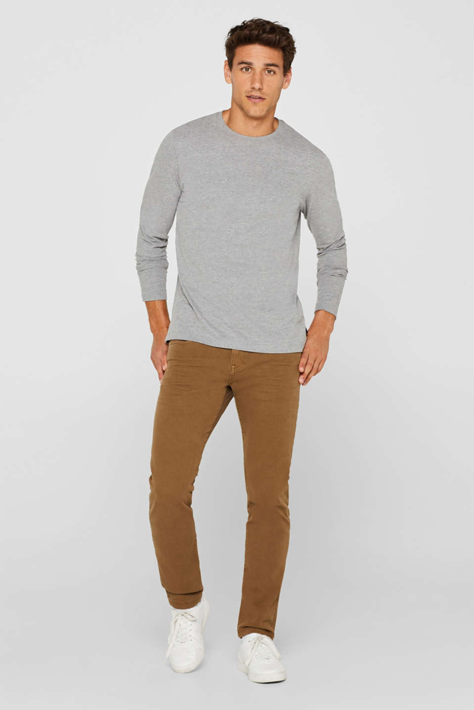 Super stretch jeans in an extra slim fit, BARK, detail image number 5