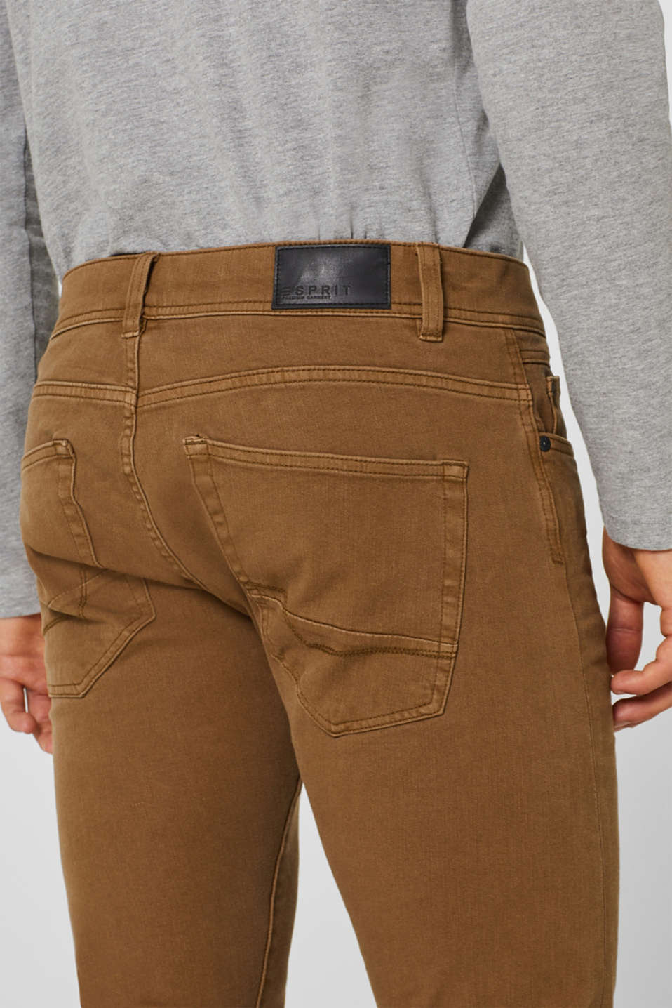 Super stretch jeans in an extra slim fit, BARK, detail image number 2