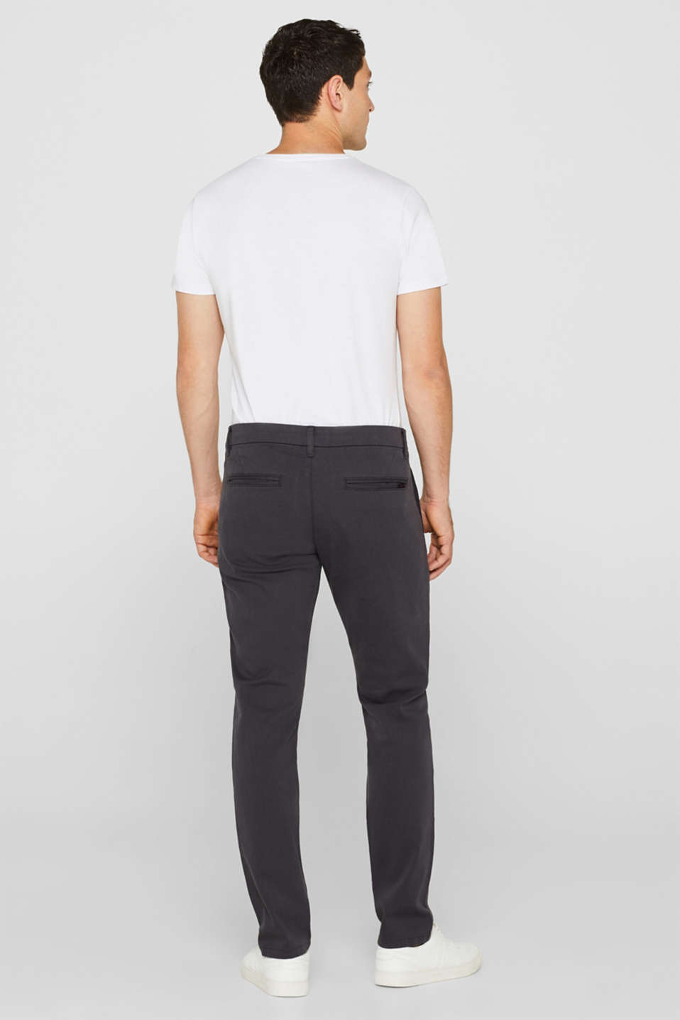 Textured trousers made of stretch cotton, ANTHRACITE, detail image number 3