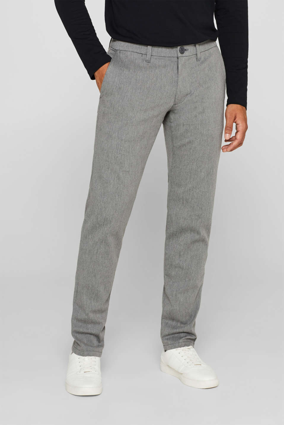 Pants woven Slim fit, GREY, detail image number 0