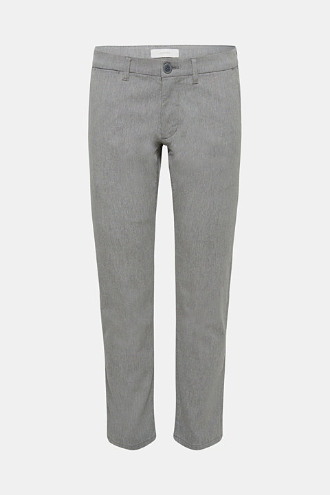 Textured trousers made of stretch cotton