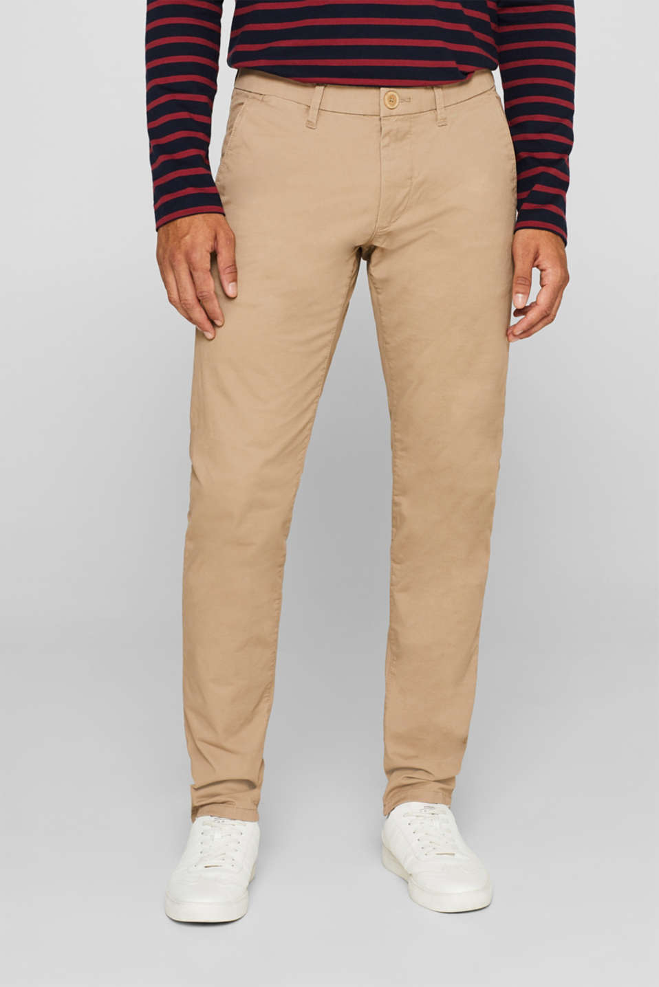 Esprit - Five pocket trousers made of stretch cotton