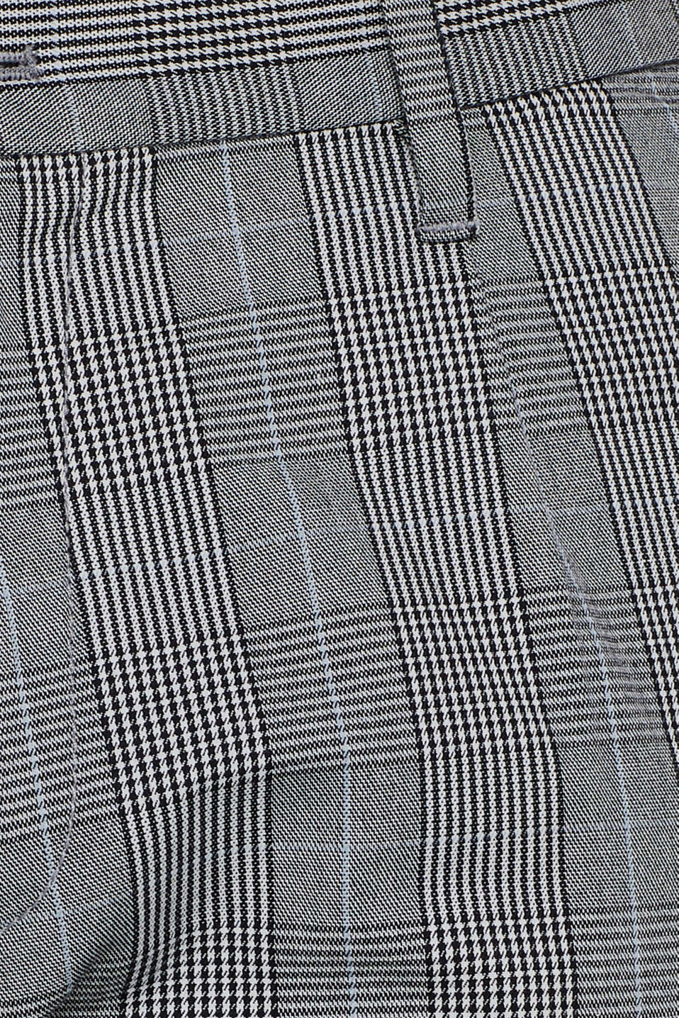Trousers with a check pattern, made of stretch cotton, ANTHRACITE, detail image number 4
